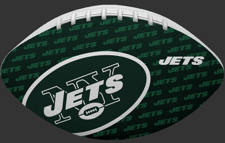 Green side of a NFL New York Jets Gridiron football with the team logo SKU #09501079122