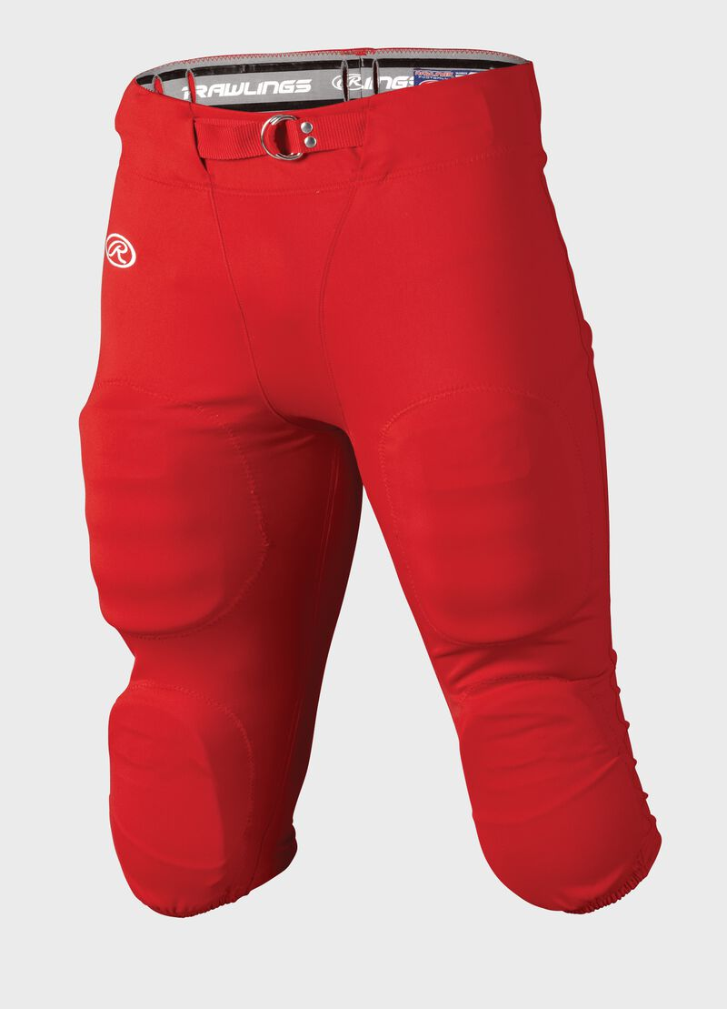 Front of Rawlings Scarlet Adult Slotted Football Pant - SKU #FP147