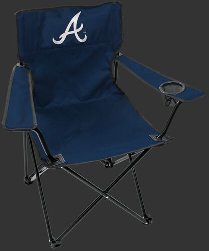 Front of Rawlings Navy Blue MLB Atlanta Braves Gameday Elite Chair With Team Logo SKU #06110005111