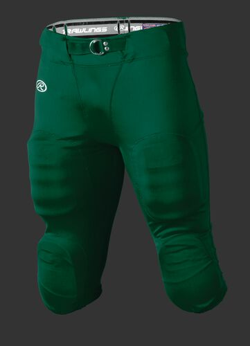Front of Rawlings Dark Green Youth Slotted Football Pant - SKU #YFP147