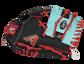 Thumb of a black/teal Arizona Diamondbacks 10-Inch team logo glove with a teal I-web and D-Backs logo on the thumb - SKU: 22000010111 image number null