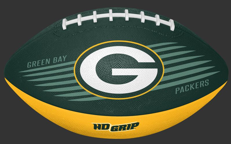 Rawlings Green and Yellow NFL Green Bay Packers Downfield Youth Football With Team Logo SKU #07731068121