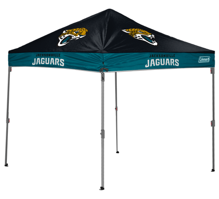 NFL Jacksonville Jaguars 10x10 shelter with team logos and colors