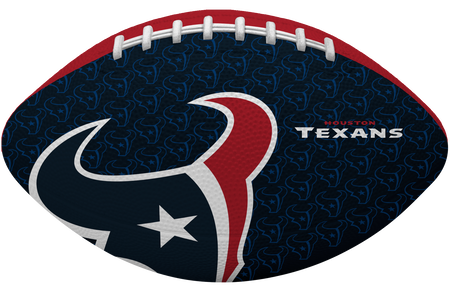 Navy blue side of a NFL Houston Texans Gridiron football with the team logo