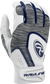 A white 5150WBG-N youth 5150 batting glove with a heather grey back and navy trim image number null