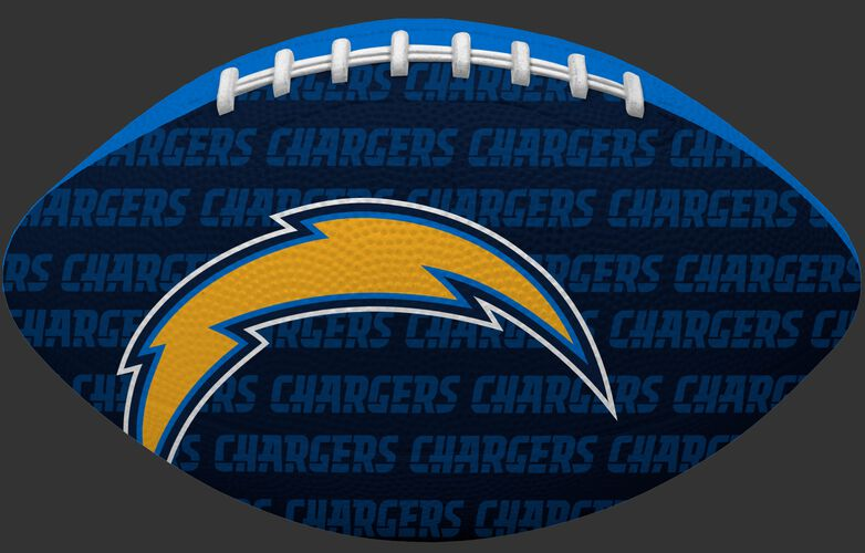 Navy blue side of a NFL Los Angeles Chargers Gridiron football with the team logo SKU #09501083121