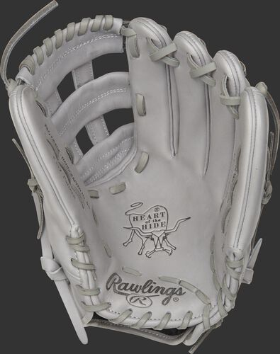 """PROKB17-6G Rawlings Pro Label """"Lunar"""" glove with a grey palm, web and laces"""