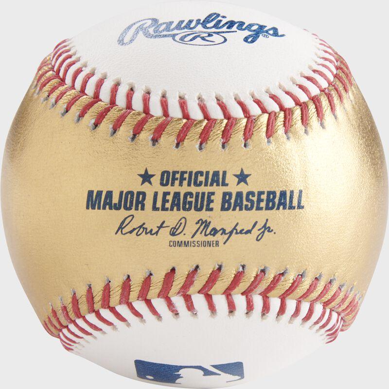 A gold/white MLB gold official MLB baseball - SKU: RSGEA-ROMLBG/W-R