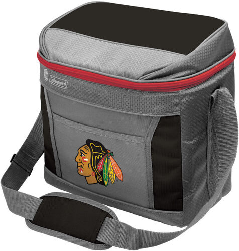 Rawlings Chicago Blackhawks 16 Can Cooler In Team Colors With Team Logo On Front SKU #03604114111