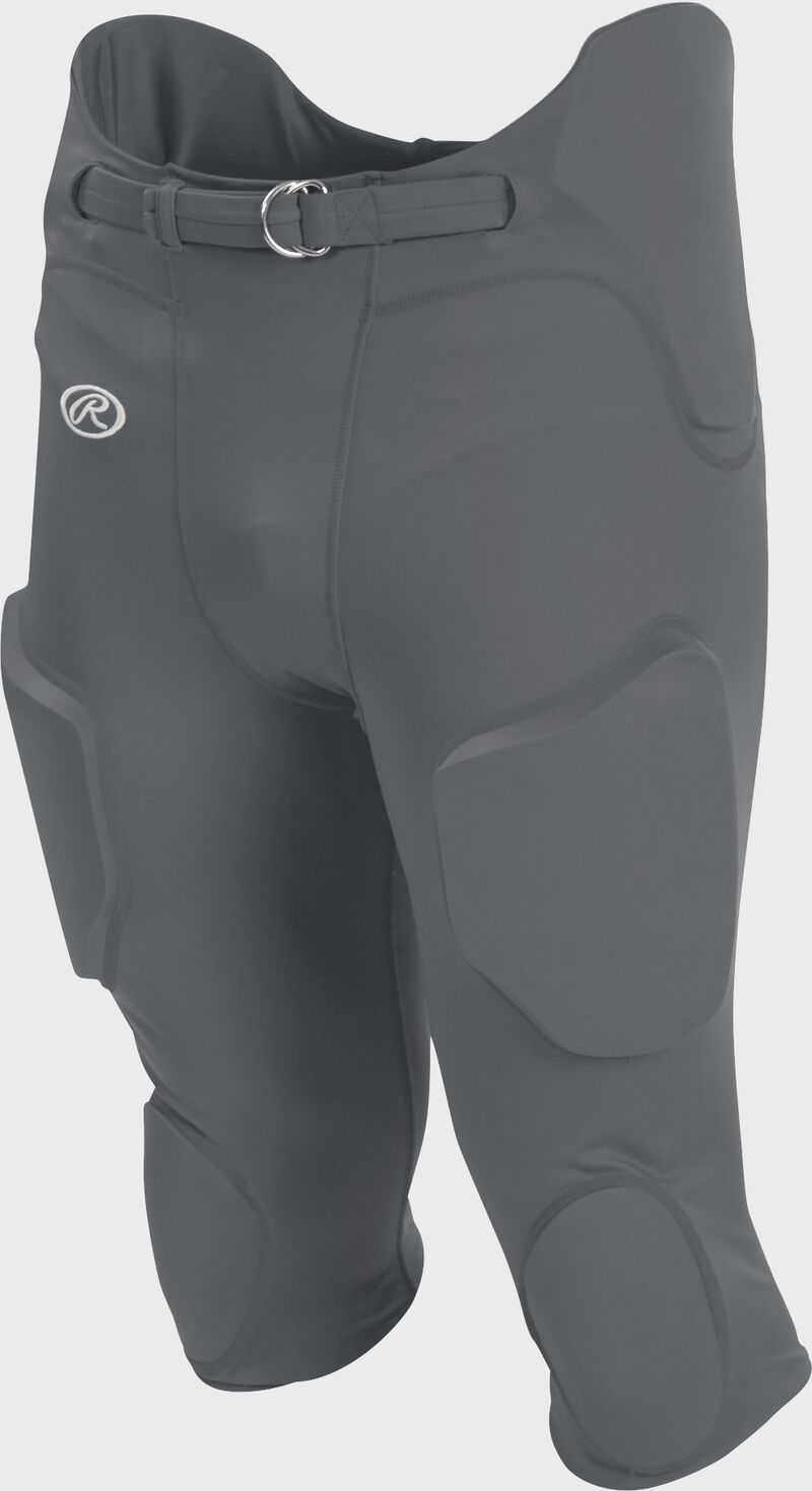 Front of Rawlings Gray Adult Lightweight Football Pants - SKU #FPL