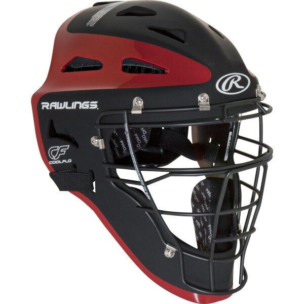 Velo Youth Catchers Helmet Cardinal/Graphite