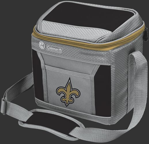 Rawlings New Orleans Saints 9 Can Cooler In Team Colors With Team Logo On Front SKU #03281077111