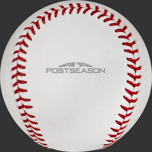 The 2018 MLB Postseason logo stamped on the ALCS18DL ALCS dueling teams baseball
