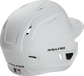 Back right of a matte white MACHEXTR Rawlings junior size batting helmet  image number null