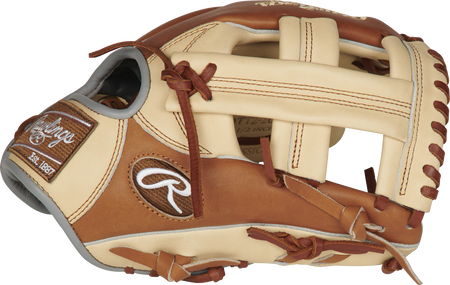 Thumb view of a golden brown PROTT2-20CGB Heart of the Hide ColorSync 11.5-inch infield glove with a camel Single Post