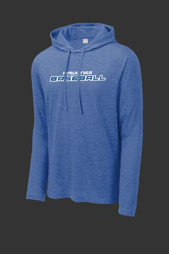A royal Rawlings baseball lightweight performance hoodie - SKU: RSGLH-R