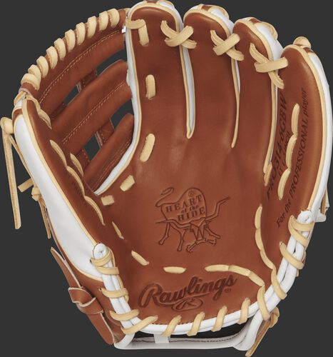 PRO314-6GBW 11.5 inch Heart of the Hide infield glove with a golden brown palm and camel laces