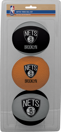 NBA Brooklyn Nets Three-Point Softee Basketball Set
