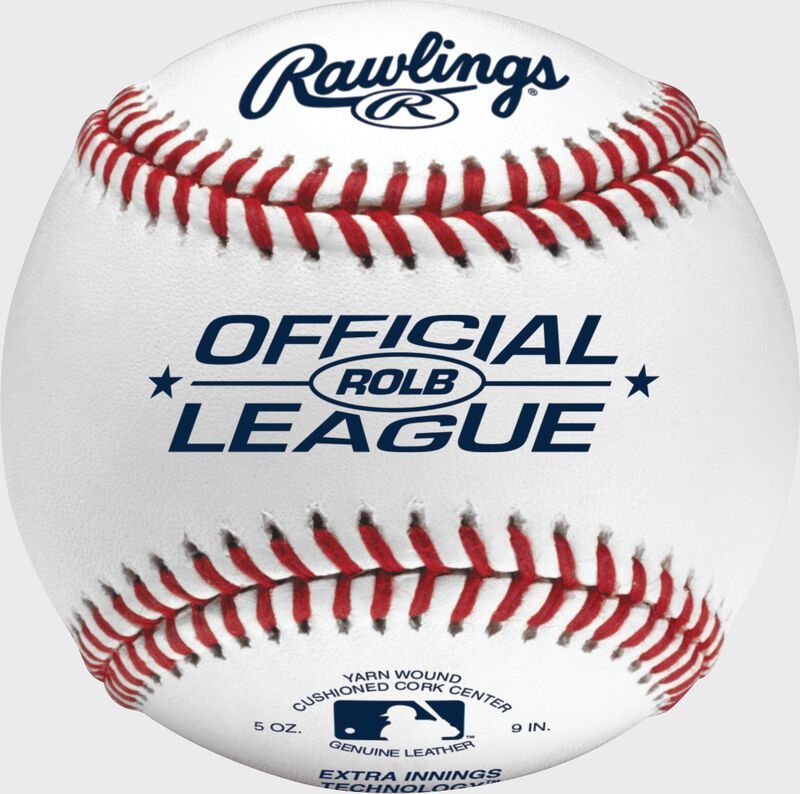 ROLB Official League youth tournament baseball with raised seams