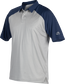 A gray Rawlings colorsync polo with navy sleeves - SKU: CSP-BG/N image number null