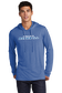 A man wearing a royal lightweight Rawlings Baseball performance hoodie - SKU: RSGLH-R image number null