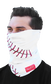 A guy wearing a white baseball stitch Rawlings multi-functional head and face cover over his mouth and nose - SKU: RC40001-100 image number null