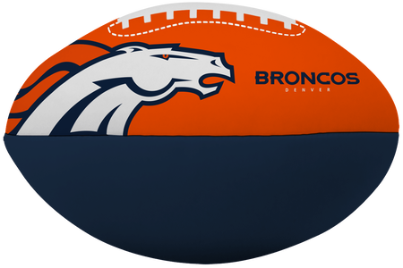 NFL Denver Broncos Big Boy softee football printed in team colors and featuring team logos