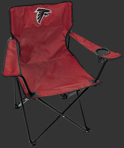 Front of Rawlings Red NFL Atlanta Falcons Gameday Elite Chair With Team Logo SKU #00551060111