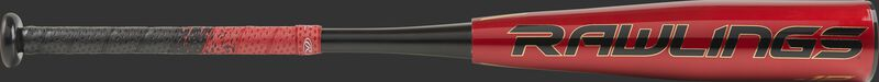 UTZQ12 2020 USSSA Quatro Pro -12 bat with a red barrel, black logo and black/red grip