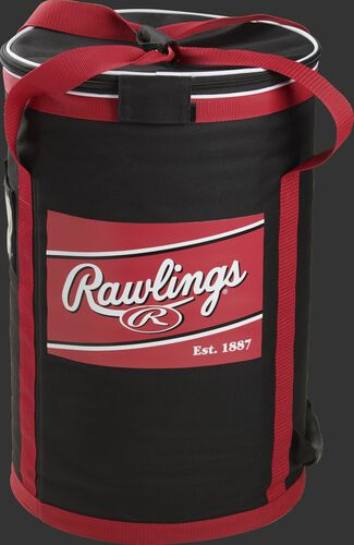 Front of a Rawlings soft sided ball bag with a large Rawlings patch printed on it - SKU: RSSBB-B
