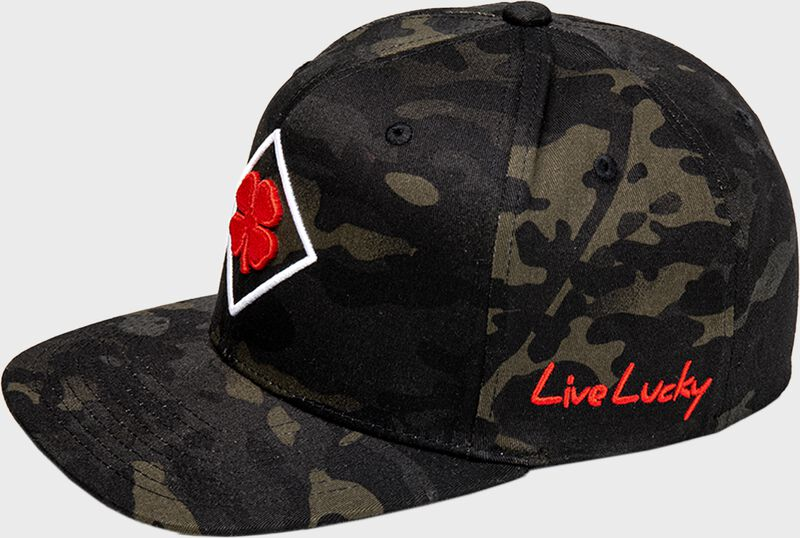 Rawlings Black Clover Diamond MultiCam Fitted Hat