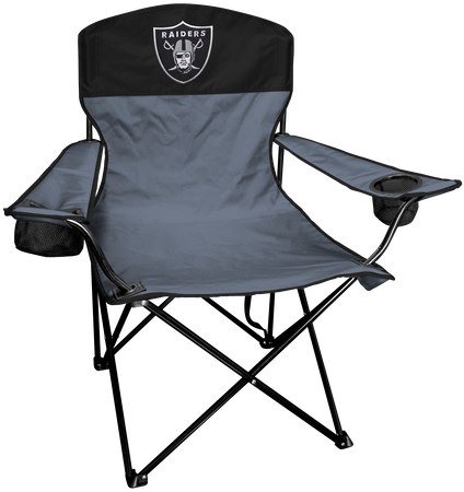 NFL Oakland Raiders Lineman chair with team colors and logo on the back