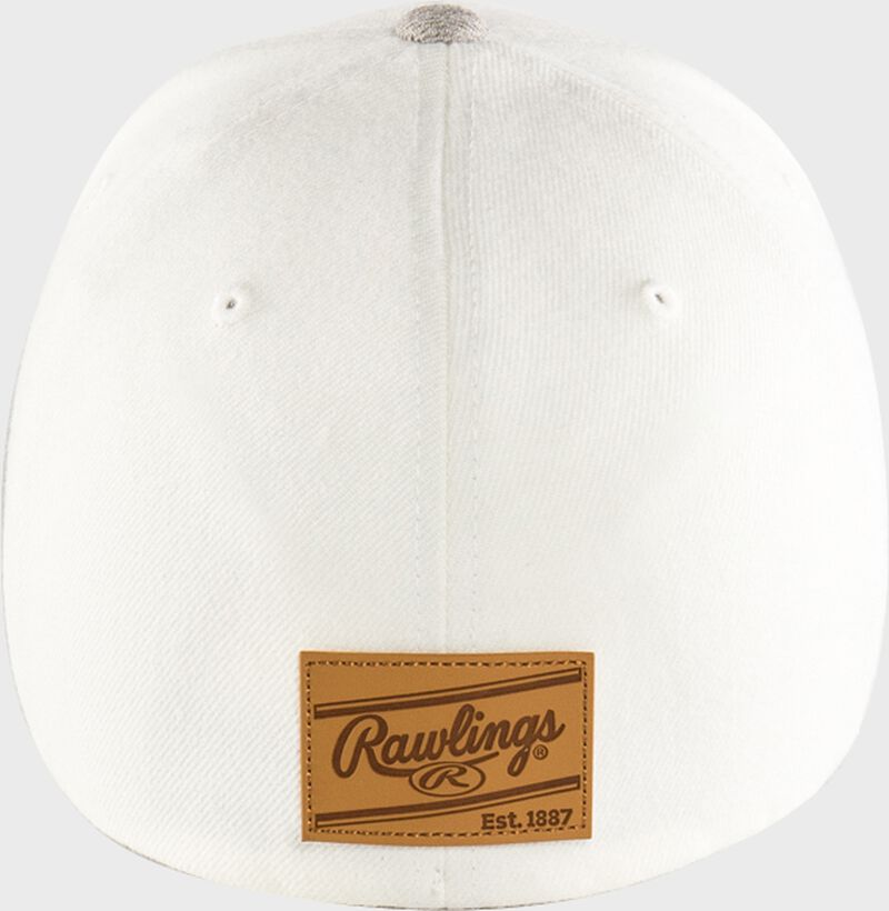 Rawlings Black Clover Leather Patch Flat Bill Hat