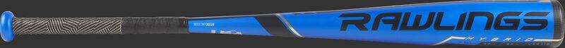 US9V10 USA -10 Velo USA bat with a blue barrel and black/gold batting grip
