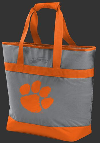Rawlings Clemson Tigers 30 Can Tote Cooler In Team Colors With Team Logo On Front SKU #07883010111