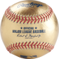 A gold MLB official baseball with red stitching - SKU: RSGEA-GOLD-R image number null