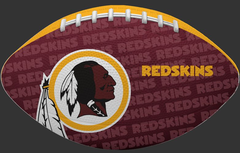 Red side of a NFL Washington Redskins Gridiron football with the team logo SKU #09501087122