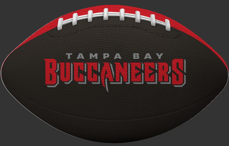 Black side of a Tampa Bay Buccaneers Gridiron tailgate football with team name SKU #09501086122