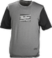 A gray/black Rawlings adult Hurler performance short sleeve shirt with a black Rawlings logo on the chest - SKU: HSSP-GR/B image number null