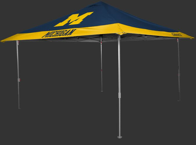 Rawlings Navy and Yellow NCAA Michigan Wolverines 10x10 Eaved Canopy With Team Logo and Name SKU #07843083111