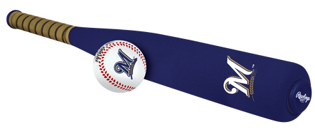 MLB Milwaukee Brewers Foam Bat and Ball Set