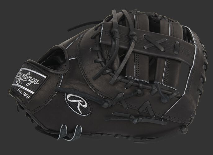 Black thumb of an exclusive 13-Inch Pro Preferred first base mitt - SKU: PROSDCTB