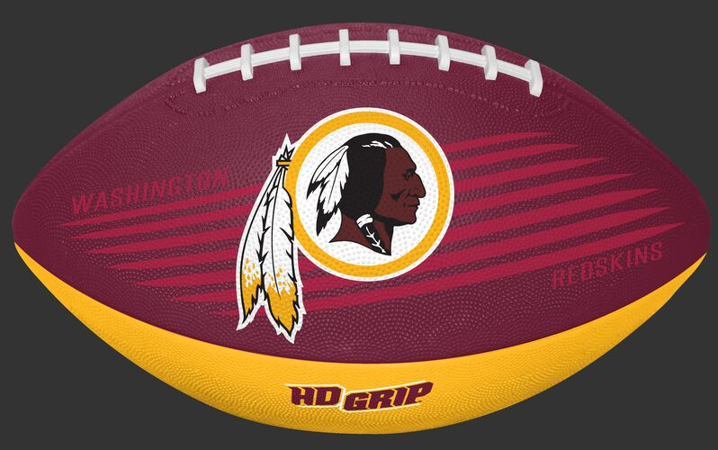 Burgundy and Gold NFL Washington Redskins Downfield Youth Football With Team Logo SKU #07731087121