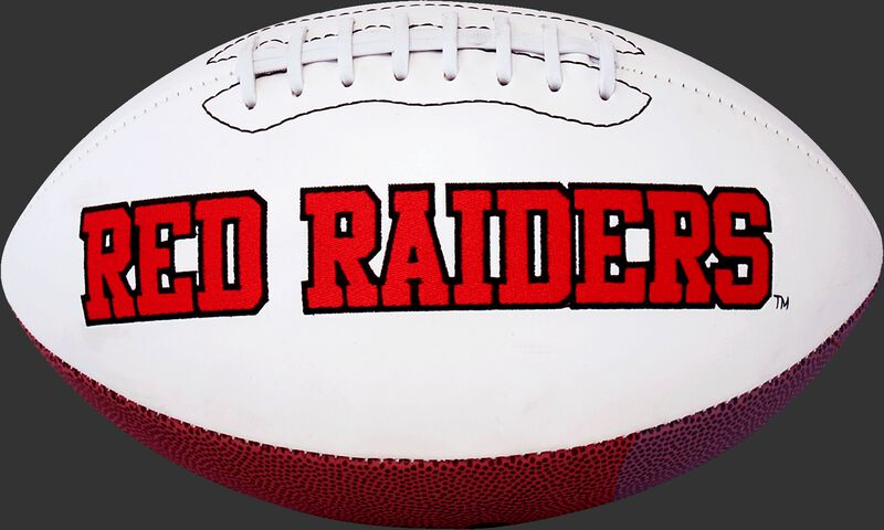 White NCAA Texas Tech Red Raiders Football With Team Name SKU #05733063121