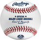 A MLB 2020 Milwaukee Brewers 50th Anniversary baseball with the official Major League Baseball stamp - SKU: ROMLBMB50  image number null