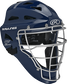 Navy Cool-Flo adult catcher's helmet with silver cage image number null
