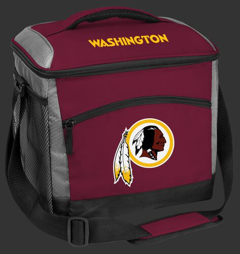 A maroon Washington Football Team 24 can soft sided cooler with screen printed logos - SKU: 10211087111