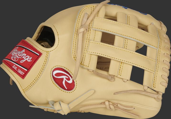 Thumb of a camel 2021 Pro Preferred Kris Bryan glove with a camel H-web - SKU: PROSKB17C