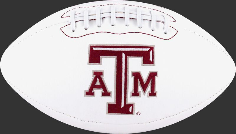 White NCAA Texas A&M Aggies Football With Team Logo SKU #05733061121