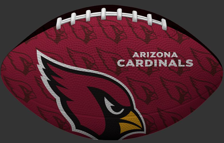 Red side of a NFL Arizona Cardinals Gridiron football with the team logo SKU #09501081121